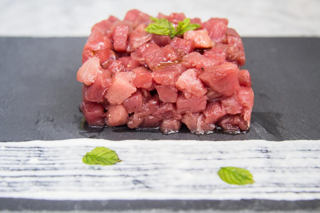 Il nostro impiattamento della tartare di tonno