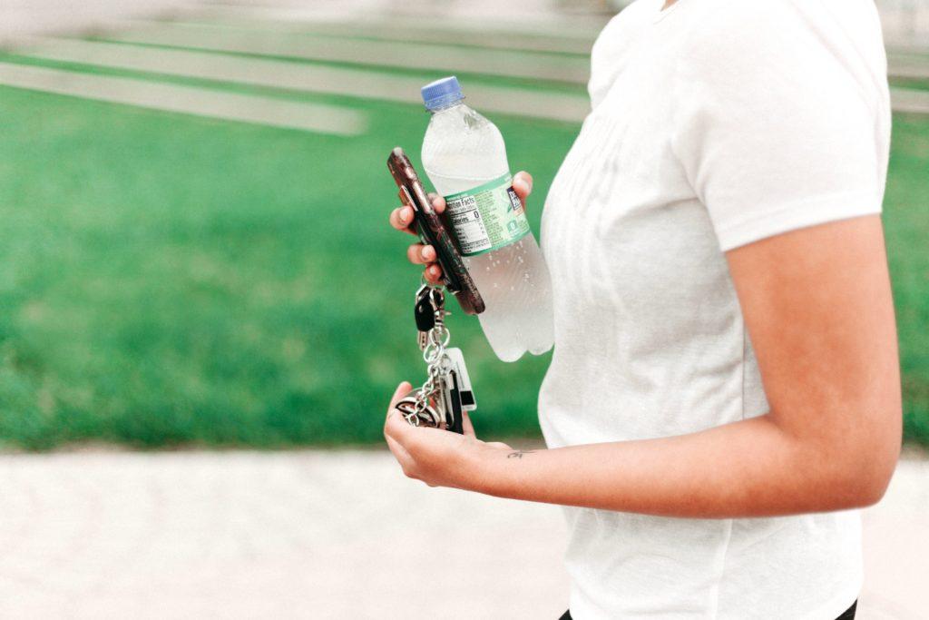Uso di bottiglie di plastica
