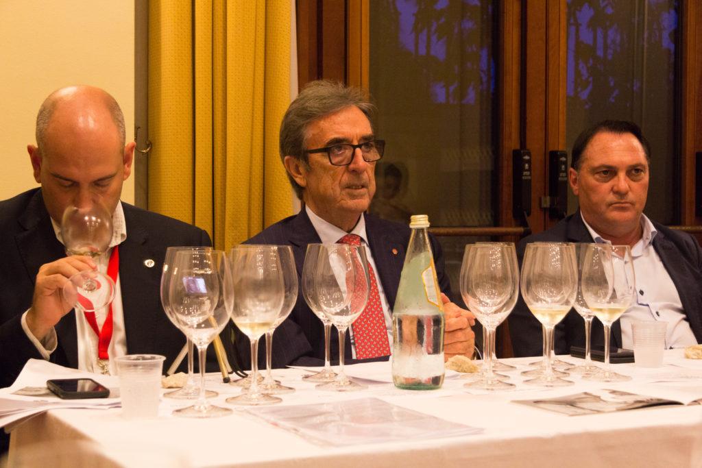 sommelier Andrea Gori, Riccardo Cotarella e Carmelo Bonetta