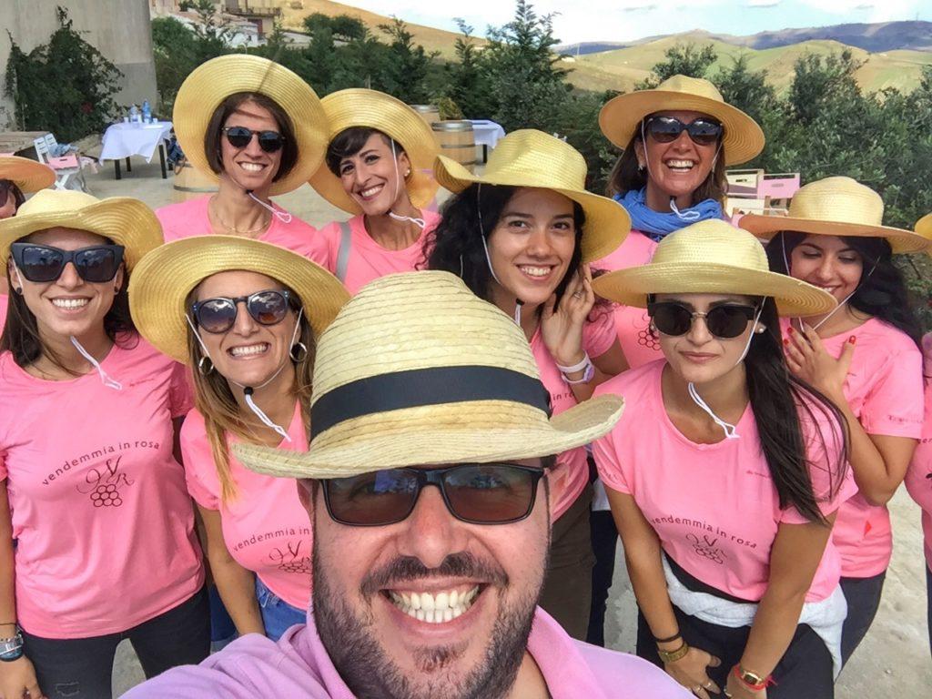 Super selfie con il padrone di casa della cantina Terre di Gratia: Gaspare Triolo