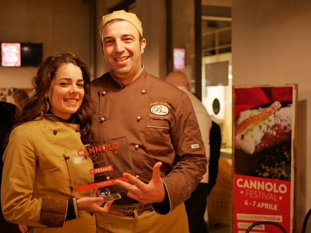 Vincitore del Cannolo Festival : il cannolo del Caffè del Corso Fratelli Biscari di Santa Cristina Gela