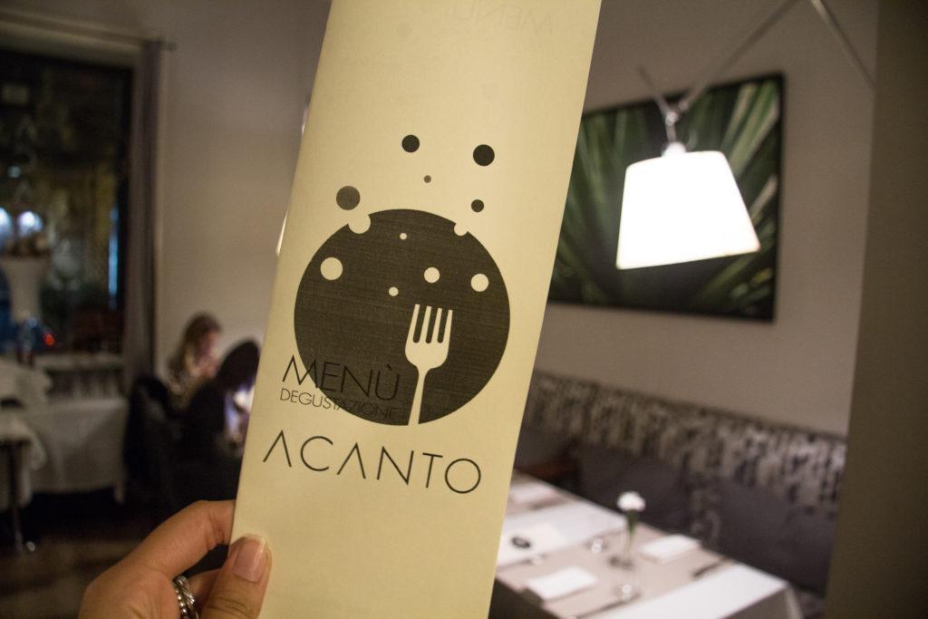 menù invernale - ristorante Acanto Palermo