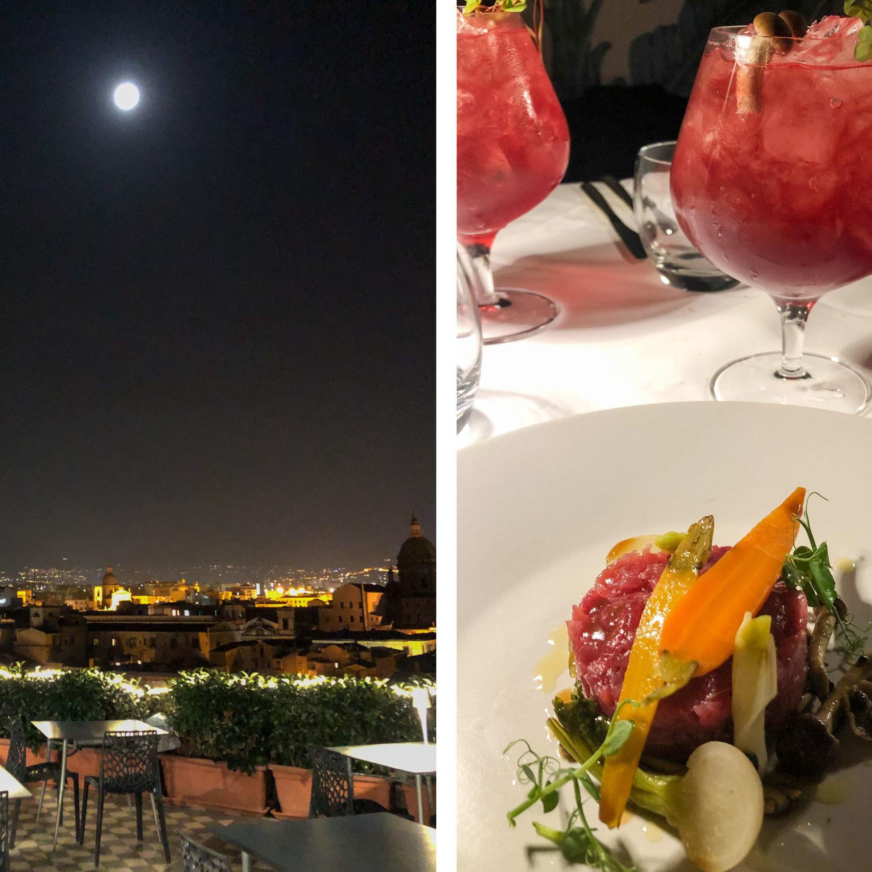 Seven Rooftop Garden - ristorante dell'Hotel Ambasciatori Palermo