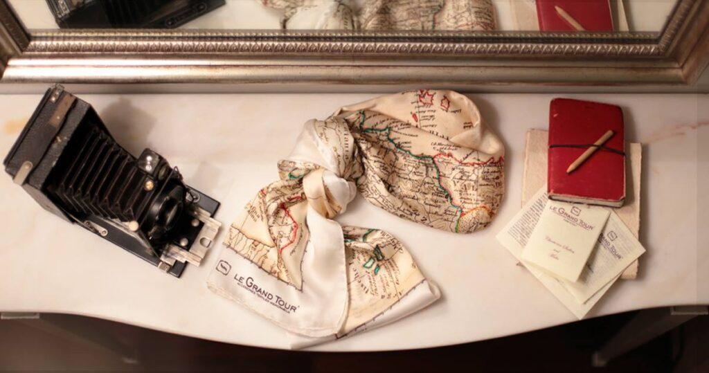 Le Grand Tour foulard seta sicilia