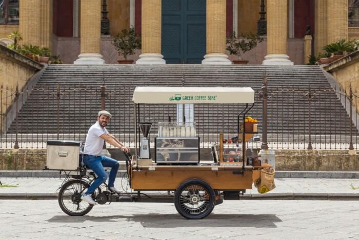 Morettino Green Coffee Bike